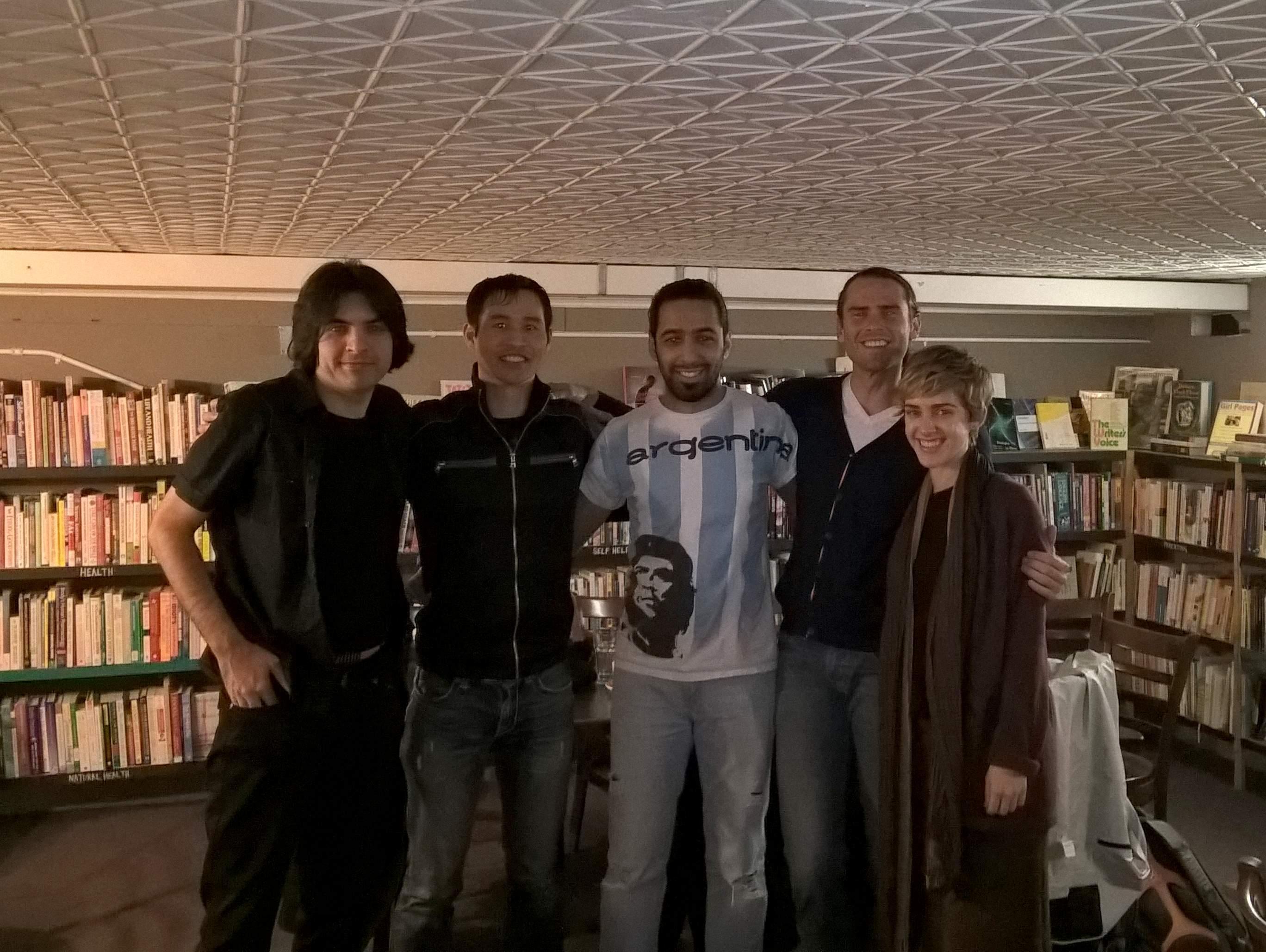 Azad, Felix, Alejandro, Alex, Vanessa (February 23, 2016)